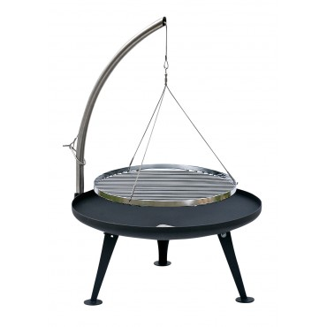 Fire Pit Holzkohlegrill 60cm (Patina Look)