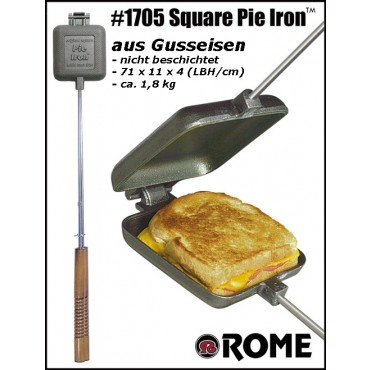 Sandwichmaker Single out of Cast Iron by Rome Industries