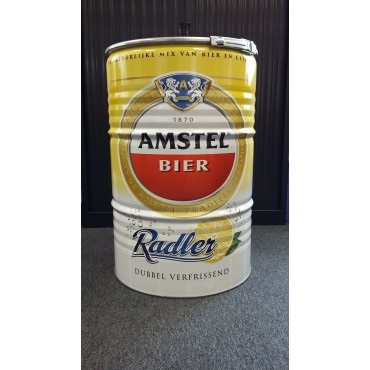 Amstel Beer Style BBQ Barrel by BarrelQ XL, stainless steel