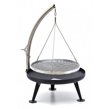 Fire Pit Holzkohlegrill 60cm als Galgengrill Schwenkgrill