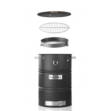 BBQ Barrel Basic by Klauwe, stainless steel, black
