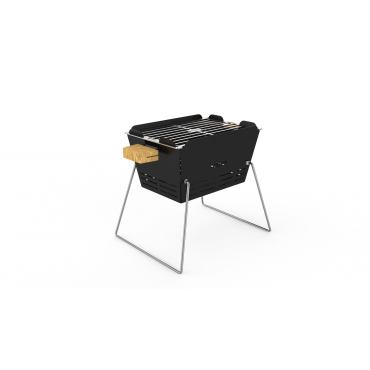 Knister Charcoal Grill, small Design city grill for balcony