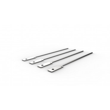 Knister Skewer, 4, stainless steel, for charcoal grill mini