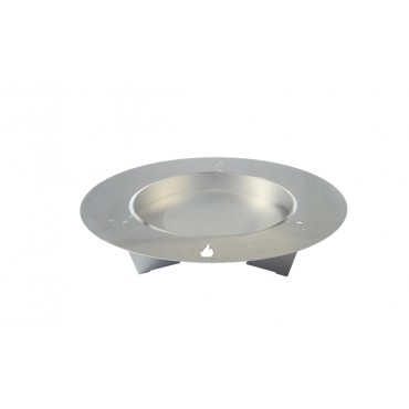 Fireplate Fire Bowl, 75cm, Stainless Steel, radius design