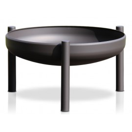 Fire bowl, coated, black, 125 cm, Ricon