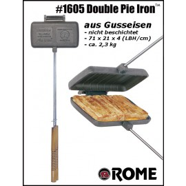 Rome Sandwichmaker Double Pie Iron #1605, Cast Iron