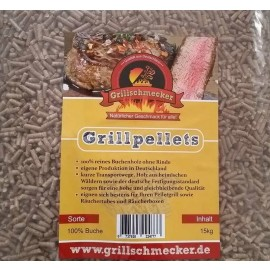 Grillschmecker Pellets, 100% beech wood, 1,5kg bag; Perfect for Ooni Pizza Ovens
