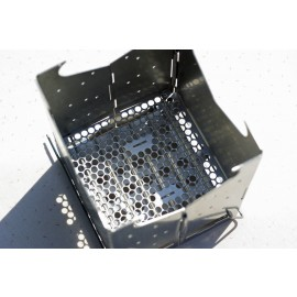 Pellet Kit for Künzi Hobo cooker (perforated stainless steel floor plate)