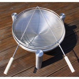 Ricon BBQ grill, black, 50 cm incl. stainless steel grid