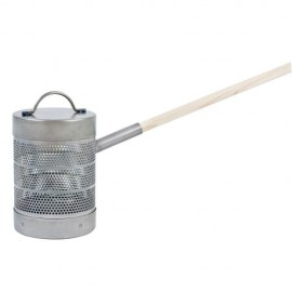 Popcorn popper with handle and lid