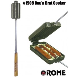 Dog n' Brat / Cornbread Cooker by Rome #1905 out of Cast Iron