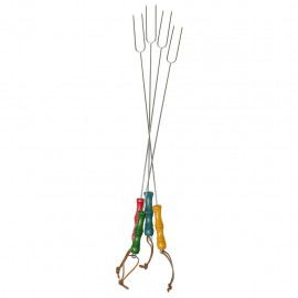 Rome Picnic Forks (Multicolored Handles), Set of 4 #2200