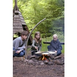 Swing Grill for Camp Fires with Viking Pan (Steel - 60cm)
