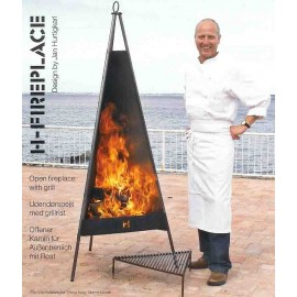 H-Chemney Terrace heater with Cooking Grid for H-Fireplace