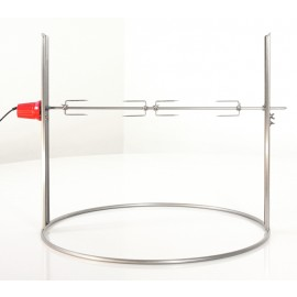 Electric rotisserie stainless steel, 60 cm, Ricon
