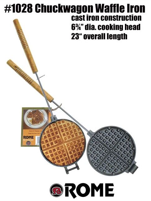 Rome Waffle Iron Chuckwagon #1028 for Camp Fire available again